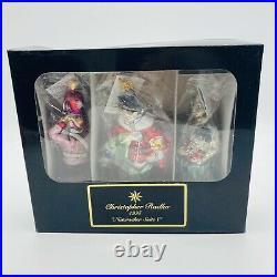Christopher Radko Nutcracker Suite 1 1995 Set of 3 Ornaments Sealed Packages
