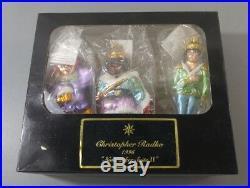 Christopher Radko Nutcracker Suite 2 Christmas Ornaments Set of 3 Box & Tag