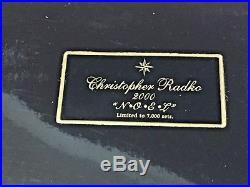 Christopher Radko ORNAMENTS N-O-E-L SANTA'S 4 PC SET LTD EDITION OF 7,000