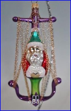 Christopher Radko Ornament Anchor Santa Gold 1995 Rare Colors Gilded 93-407-2