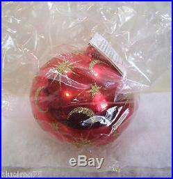 Christopher Radko Ornament Celestial Red Ball NIB (R7) SEALED