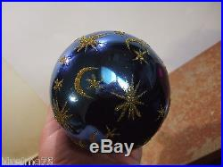 Christopher Radko Ornament Center Ring #90-90-4 Ball Drop Blue 1994 RARE R9#19