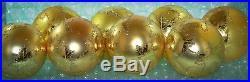 Christopher Radko Ornament GOLD SCARLETT 4 ROUND BALLS