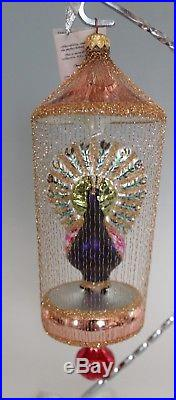 Christopher Radko Ornament Gilded Cage 93-406-0 Peacock 9 Purple 1993 Gold
