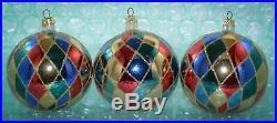 Christopher Radko Ornament HARLEQUIN 4 ROUND BALLS