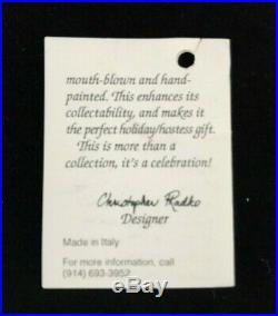 Christopher Radko Ornament Italian Mouth Blown Glass GABRIEL'S HORN 1996