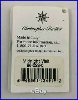 Christopher Radko Ornament Italian Mouth Blown Glass MIDNIGHT VISIT