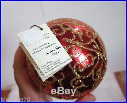 Christopher Radko Ornament RHAPSODY Teardrop Drop NIB (R51)