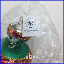 Christopher Radko Ornament Spin Top Christmas Tree Jumbo #93-302-1 R5