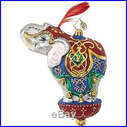 Christopher Radko Ornamental Mammoth Circus Elephant Ornament 6.5H
