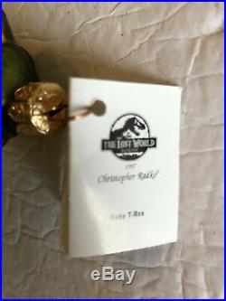 Christopher Radko Ornaments Jurassic Park Dinosaur Collection Set Of 4