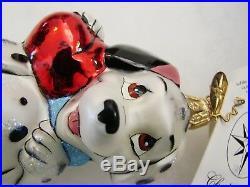 Christopher Radko PUPPY POLE 101 Dalmatians Disney Christmas Ornament EUC