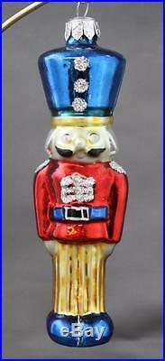 Christopher Radko Palace Guard Ornament 1992 92-060-0 Red Jacket Blue Hat