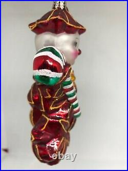 Christopher Radko Poinzy Pal Poinsettia version of Holly Jean Ornament withBox