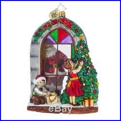 Christopher Radko Preparing for Christmas Santa and Toys Christmas Ornament