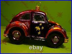 Christopher Radko Prototype Halloween Flora Beatle Car Boo Glass Ornament