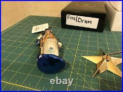 Christopher Radko Proud Patriot & Fire & Drum Ornament Set Rare71/7500. Retired