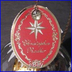 Christopher Radko ROOM FOR THREE Globe Nativity Christmas Mary Jesus #1018919