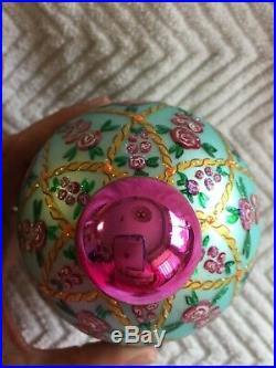 Christopher Radko ROSE GLOW Ball Drop Christmas Ornament