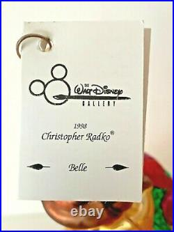 Christopher Radko Rare Disney Belle Ornament Beauty The Beast Ltd Ed Nib