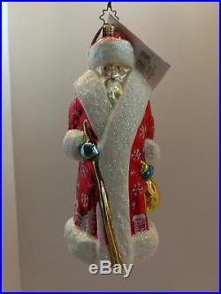 Christopher Radko Red SIBERIAN SNOW NICK Russian Santa Xmas ornament