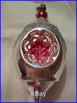 Christopher Radko Reflector Multi Drop Christmas Ornament 10.5 with metal tag