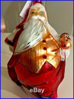 Christopher Radko SANTA CALLS Ornament Saks Fifth Ave 1996 Santa Glass Ltd Ed