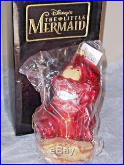 Christopher Radko SEBASTIAN Walt Disney The Little Mermaid 1997 Ornament