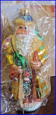 Christopher Radko SIBERIAN SANTA Christmas Ornament Best Tree Coloration MINT
