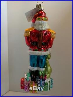 Christopher Radko ST CRACKER CLAUS Glass Ornament Nutcracker Limited addition