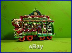 Christopher Radko San Francisco Trolley Jolly Christmas Glass Ornament