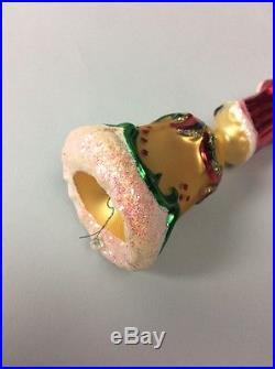 Christopher Radko Santa Bell Ornament Christmas Xmas Rare