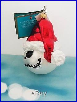 Christopher Radko Santa Jack Ornament Nightmare Before Christmas Le Of 1,992