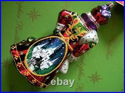 Christopher Radko Santa Knows What It Means Glass Ornament