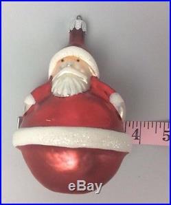 Christopher Radko Santa Ornament Christmas Xmas Vintage Santa Claus Rare