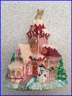 Christopher Radko Santa and Sleigh Christmas Ornaments with Stand Brand New