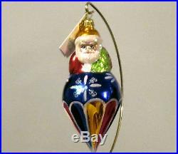 Christopher Radko Santa's On Top VERY RARE Drop Christmas ornament, New
