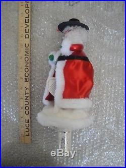 Christopher Radko Santa's Solo Finial Tree Topper Ornament Rare Italian