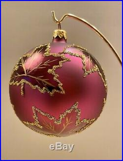 Christopher Radko Scarletts Wedding Dress PURPLE Christmas Ornament