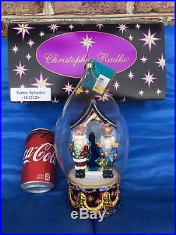 Christopher Radko Sentry Splendor Nutcracker Snow Globe Style Ornament HUGE-RARE