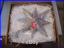 Christopher Radko Silver Champagne Stellar Christmas Ornament 15 X 14