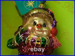 Christopher Radko Snowpatch Holidays Sock Glass Ornament