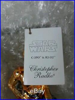 Christopher Radko Star Wars Ornament NEW RARE C3PO R2D2 Droids LIMITED RARE