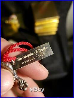 Christopher Radko Sterling silver Christmas Ornament Winter Spirit Complete