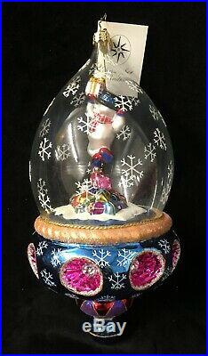 Christopher Radko Stunning Globe Ornament Frosty Jubilee #1010187 2003 New