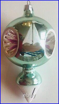 Christopher Radko Super Rare 1986 First Year NAUTICAL Glass Ornament