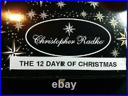 Christopher Radko THE 12 DAYS OF CHRISTMAS 1016303 CLASSIC CAROLS COLLECTION