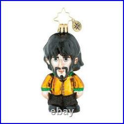 Christopher Radko THE BEATLES Ornaments John, Paul, Ringo, George Set of 4 Gems