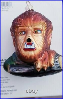 Christopher Radko THE WOLF MAN Lon Chaney Halloween Ornament Universal MONSTERS