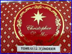 Christopher Radko TOWERING REINDEER Ornament antlered Snow Scene NIB